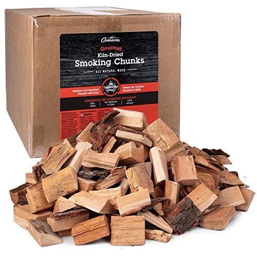 Camerons Gourmet Oak Smoking Wood Chunks- 20 lb Bulk Value Pack- Kiln Dried BBQ Smoker Medium Cut All Natural Wood with Bark Intact