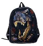 Moolecole Unisex 3D Tiere Print Daypack Dinosaurier Kinderrucksack für Kinder...