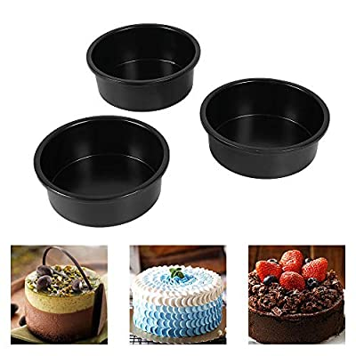 6 Inch Cake Pan, Removable Bottom Round 6 In Cake Pan, The Carbon Steel Material And Non-Stick Coating Cake Pan 6-Inch Round Make Heating Even, Durable, And Easy To Clean. (3 packs)