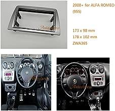 Autostereo Car Radio Adaptor Frame Fascia for ALFA Romeo MiTo (955) Left Wheel with SRS Trim Surround Adaptor Stereo Face Facia Fascia ALFA Romeo MiTo Stereo Fascia Dash CD Trim Installation Kit