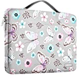 Hseok Laptop Sleeve 13-13.5 Inch Case Briefcase, Compatible All Model of 13.3 Inch MacBook Air/Pro, XPS 13, Surface Book 13.5' Spill-Resistant Handbag for Most Popular 13'-13.5' Notebooks, Butterfly