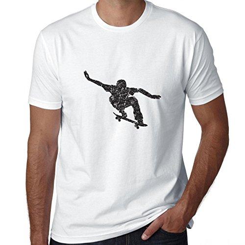 Skateboarden Jumping Skate Park Action Silhouette T-shirt voor heren