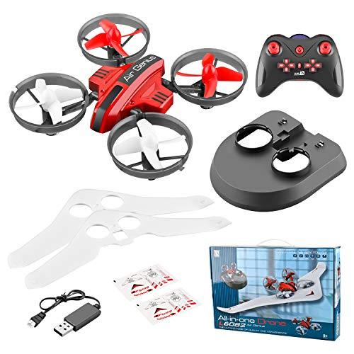DishyKooker kinderen DIY vaste Wing 3 in 1 elektrische draadloze besturing rc zeilvliegtuig model speelgoed 2,4 g land sky modus afstandsbediening rc Drone Hovercraft rode batterij Drie