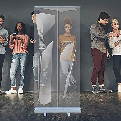 DAGCOT Piso de pie Sneeze Guard, Easy-Wipe y Fácil ensamblaje PVC pantalla clara para cafés, tiendas minoristas, cajero, recepcionista