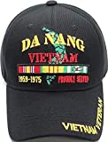 Da Nang Vietnam Veteran Proudly Served Mens Cap [Black - Adjustable]