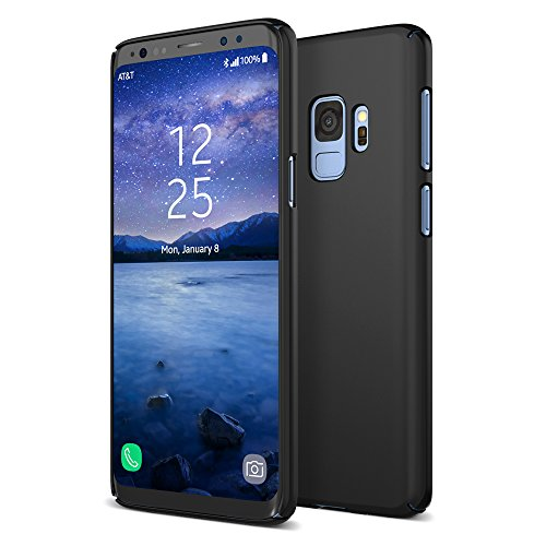 Maxboost Galaxy S9 Plus Case mSnap Series Compatible with Samsung Galaxy S9 Plus Case Antislip Matte Coating for Excellent Grip/Scratch Resistant Thin Snap Protective Hard Phone Covers 2018 [Black]