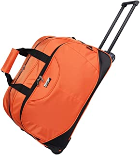 Wheeled Hand Luggage Holdall Trolley Bag Holiday Weekend Lightweight (Color : Orange, Size : 63 * 32 * 35cm)