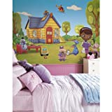 RoomMates JL1301M Doc Mcstuffins Water Activated Removable Wallpaper Mural - 10.5 ft. x 6 ft.