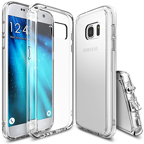 Ringke Fusion Compatible with Galaxy S7 Case Brilliant Clear Minimalist Hybrid Fortified PC Back TPU Bumper Impact Resistant, Shock Absorption for Galaxy S7 - Clear