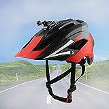 BDTOT Casco de Bicicleta para Adulto Casco Ciclismo Ajustable Protección de Seguridad con Visera Desmontable y Luz Bici Ligero Protector Unisex Puede Instalar Cámara Deportiva