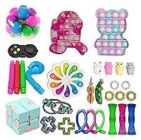 30パックのフィジットのおもちゃパック、感覚の指名のおもちゃ安い、フィジットのおもちゃセットのフィジットボックス、ストレスボール、プッシュポップバブル感覚フィジットおもちゃパック (Color : K-30pcs)