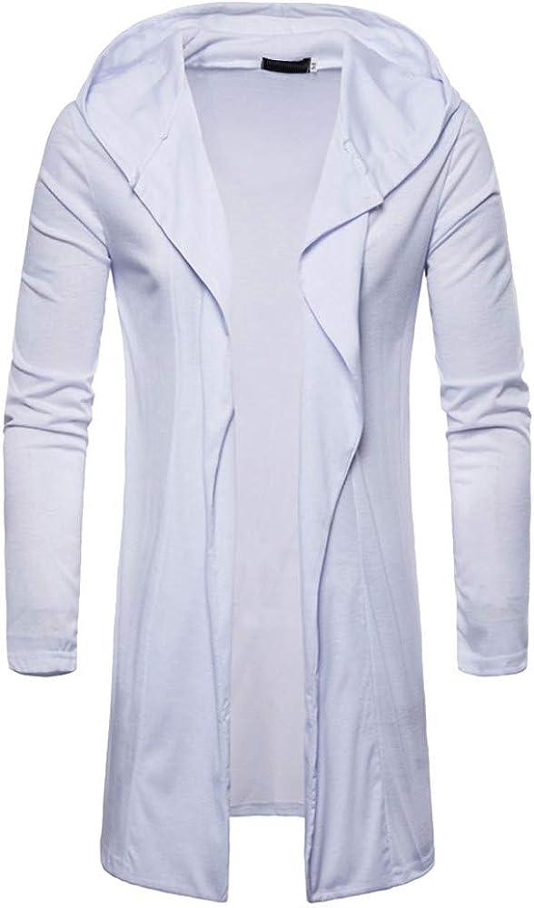 Clearance Men Sports Lightweight Open Front Hoodies Longline Cardigan Jackets Fashion Teenager Hooded Sweatshirt