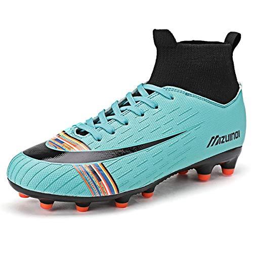 YEFDG Herren Fußballschuhe Jungen Fußball Leichtathletik Schuhe High Top Spikes Trainer Professionelle Turnschuhe Wettkampfschuhe