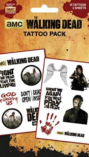 1art1 The Walking Dead, Characters, 13 Tattoos Paquet De Tatouages (17x10 cm) + 1x Sticker Surprise