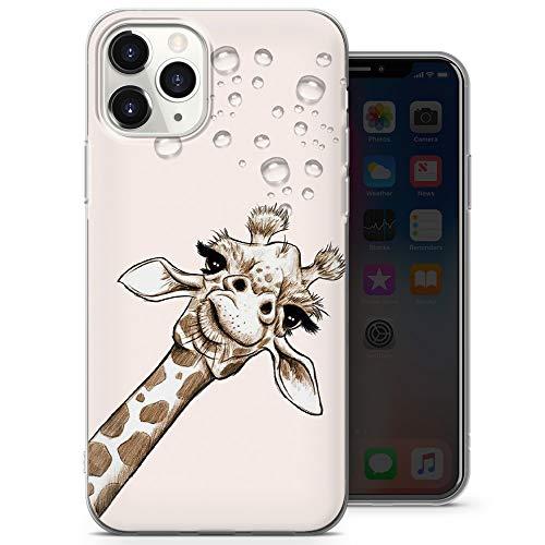 Funda para teléfono con diseño de jirafa de color, funda divertida para iPhone 6, iPhone 6s, funda delgada y suave de silicona TPU – diseño 2 – A44