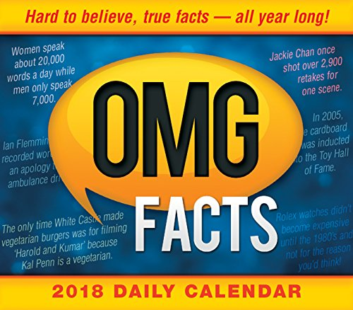 OMG Facts: Hard To Believe, True Facts - All Year Long 2018 Boxed/Daily Calendar (CB0255)
