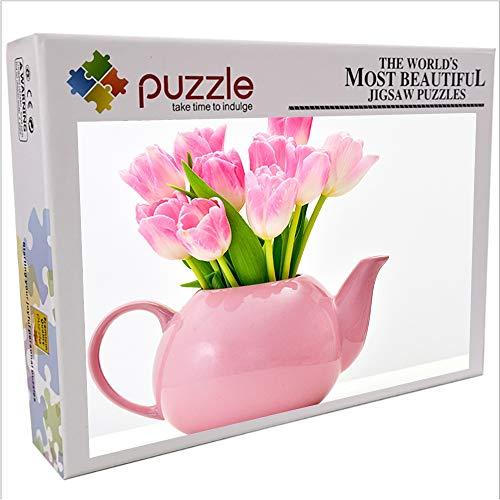 Flor de tetera 1000 piezas de rompecabezas de papel para adultos rompecabezas de paisaje juego de rompecabezas el mejor regalo para niños 70x50cm-planta