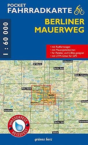 Pocket-Fahrradkarte Berliner Mauerweg: Maßstab 1:60.000. Wasser- und reißfest. (Fahrradkarten)