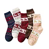 TaimeiMao calcetines mujer invierno,calcetín navideño,térmicos Adulto Calcetines,calcetines mujer invierno termicos,Calcetines Invierno Calientes,navideño regalos (Cervatillo-5)