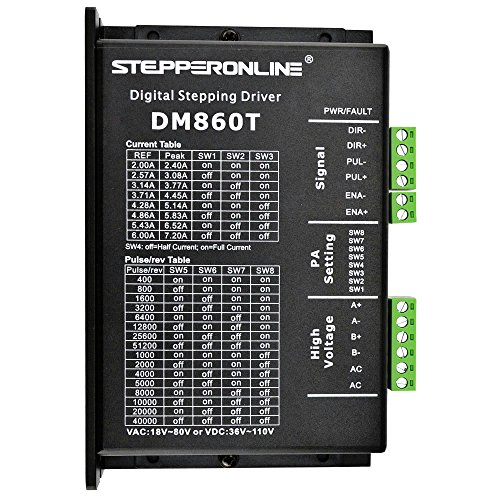 STEPPERONLINE DM860T Digitaler Schrittmotor Treiber 2.4-7.2A 18-80VAC or 36-110VDC Stepper Motor Driver Für Nema 34 CNC Stepping Motor