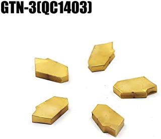 OSCARBIDE Carbide Turning Inserts GTN-3(QC1403) Multilayer Coated CNC Lathe Inserts for Lathe Grooving Cut-Off Tool,5 Pieces/Pack