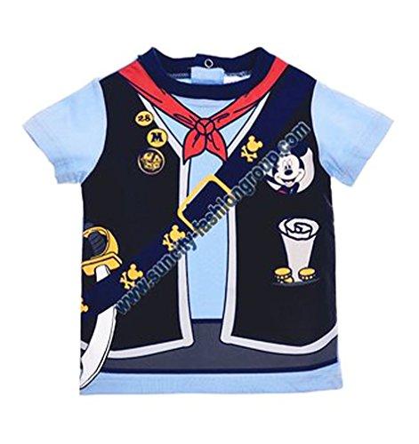 Tee shirt effet trompe-oeil manches courtes bébé garçon Mickey de 6 à 23mois (6 mois, Bleu)