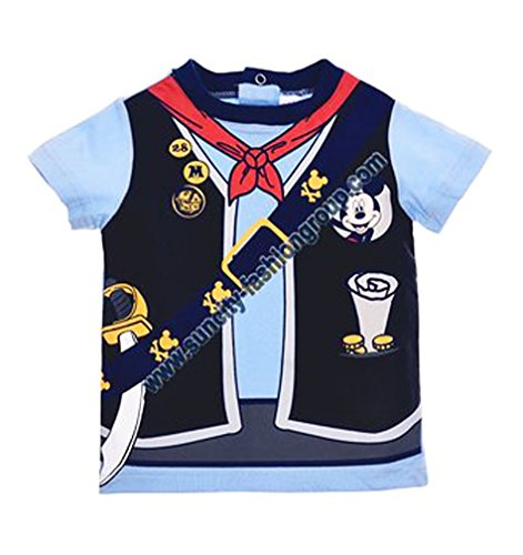 Tee shirt effet trompe-oeil manches courtes bébé garçon Mickey de 6 à 23mois (18 mois, Bleu)