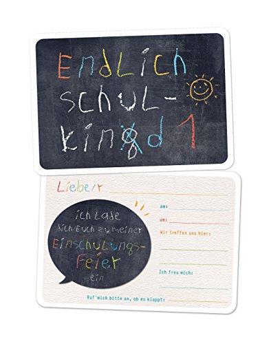10x Einladungskarten Einschulung Schulking äh Schulkind, Einladungen Schulanfang, Schule, Einschulung