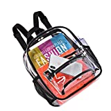 Clear Backpack Stadium Approved, Mini Clear Backpack, Heavy Duty Waterproof Transparent PVC Backpack with Work, Concert, Security Travel & Stadium