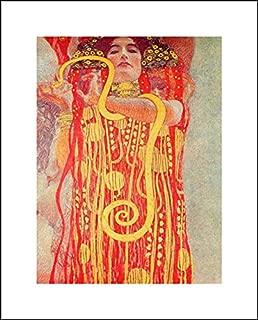 Gustav Klimt 16x20 Art Print - University of Vienna Ceiling Paintings (Medicine), Detail Showing Hygieia