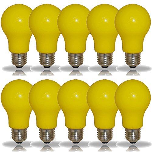 10 x LED Leuchtmittel Birnenform 3W = 25W E27 GELB Innen- & Außenbereich Party