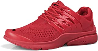 Fashion Shoes, Fashion Shoes Fashion Men Sneakers for Athletic Shoes Lace Up Mesh Cloth Pure Color Breathable Lightweight Anti-Slip Sport Running Round Toe Comfortable Shoes, Breathable Shoes