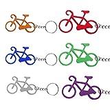 TsunNee Apribottiglie tascabile, portachiavi con cavatappi, a forma di bicicletta, confezione da 24