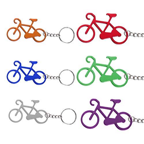 TsunNee - Abridor de botellas para bicicleta, abridor de botellas de cerveza, abrebotellas con llavero, 24 unidades