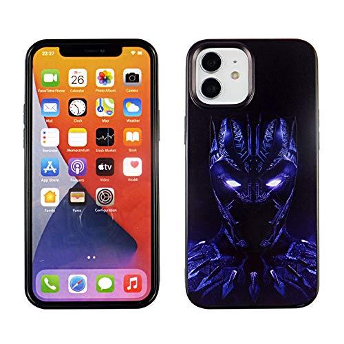 iPhone 12 Mini 5.4 Inch TPU Case CASEVEREST 3D Print Design Slim Fit Cover iPhone 12 Mini Black Panther Blue