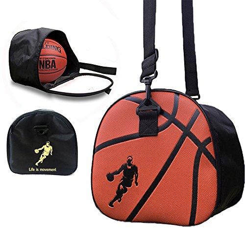 Baffect Sac de rangement portable pliable pour ballon de football, volleyball, pour homme, garçon, étudiant, noir