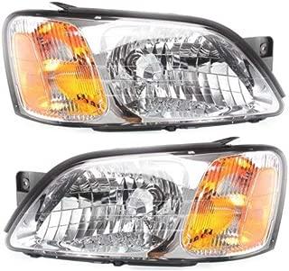 Headlight Compatible with 2000-2004 Subaru Legacy/Baja2003-2006 Pair with Bulbs Clear Lens