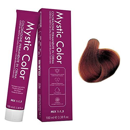 Mystic Color - Crème Colorante Permanente à l'Huile d'Argan et au Calendula - Coloration Longue Durée - Couleur pour Cheveux Rouges Châtains Clairs 5.66 - 100ml