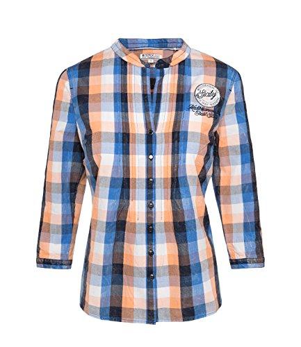 SOCCX Damen Tunika-Bluse mit Karomuster
