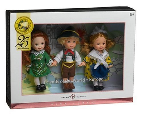 Barbie Collector Pink Label - Dolls of the World - Kelly and Friends Gift Set - France, Switzerland & Ireland