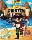 Malbuch : Piraten | 4-8 Jahre alt: 30 Färbungen von Piraten, Papageien, Schiffen oder Schätzen | 62 Seiten, Format A4 (20,32 x 25,5 cm) | Geschenkidee ... Junge. Weihnachten, Geburtstag, Ferienzeit