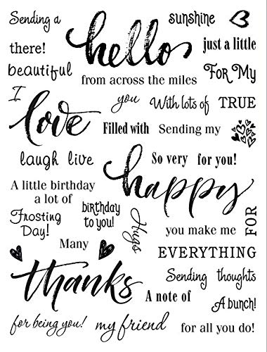 Paper Wishes – Clear Silicone & Acrylic Stamp Collection   Stamps for Scrapbooking, Cardmaking, Gifts and All of Your DIY Crafting, Art and Creative Projects - Inspiration at Your Fingertips
