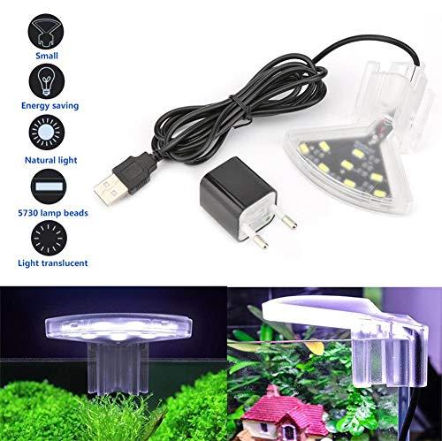 ZWHLDJ Aquarium LED Beleuchtung Fischbehälter Clip Licht Wasserdicht Und Energiesparend Geeignet Für Korallenriff-Pflanzen Fisch Meeres- Und Kaltwasseraquarien Fish Tank Light