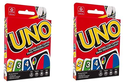 Jogo de Cartas UNO Kit 2 Unidades