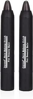 Professional Hair Chalk Temporary Hair Dye Non-toxic Hair Color Crayon Cover White Hair Color Patch (2packs-dark Brown-dark Brown)