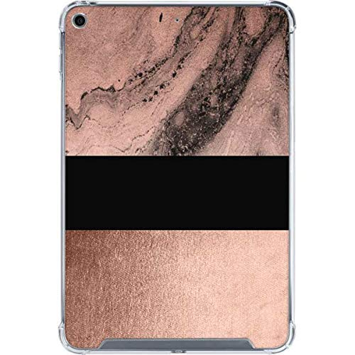 Skinit Clear Tablet Case for iPad Mini 5 (2019) Originally Designed Rose Gold and Black Marble Design