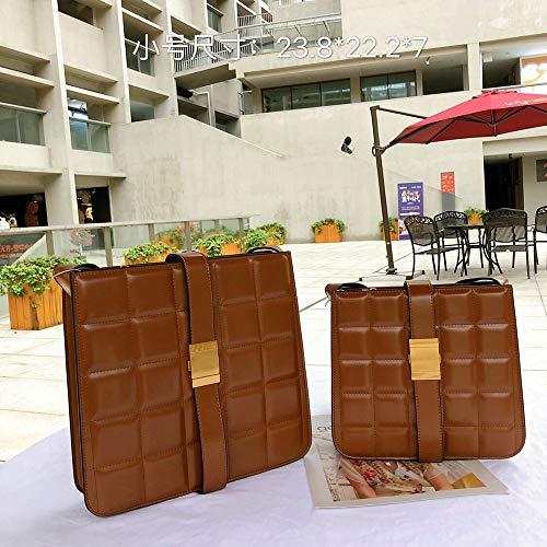 Faus Koco Leder-Handtaschen/Leder-Textur-Box, klein, quadratisch, Kuriertasche, Farbe: Braun, Größe: S