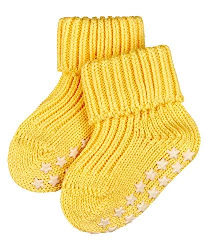 FALKE Unisex Baby Catspads Cotton B HP Hausschuh-Socken, Blickdicht, Gelb (Snapdragon 1207), 74-80