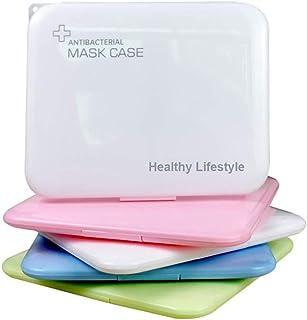 Bolsa portátil de almacenamiento de mascarillas, caja de almacenamiento de mascarillas antipolvo para la prevención de la contaminación de mascarillas 1 paquete blanco, sin incluir la mascarilla