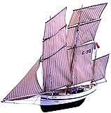 Soclaine Claine- Maqueta de Barco de Madera para Montar, BG1050, a Elegir 650 mm-LG 100 mm-H 570 mm